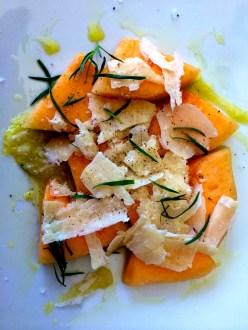Fresh Melon and Parm Salad