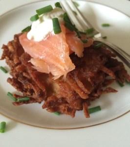 Smoked Salmon Latkes