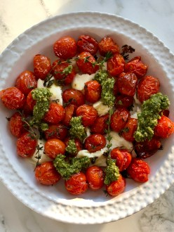 Caprese Roasted Tomatoes