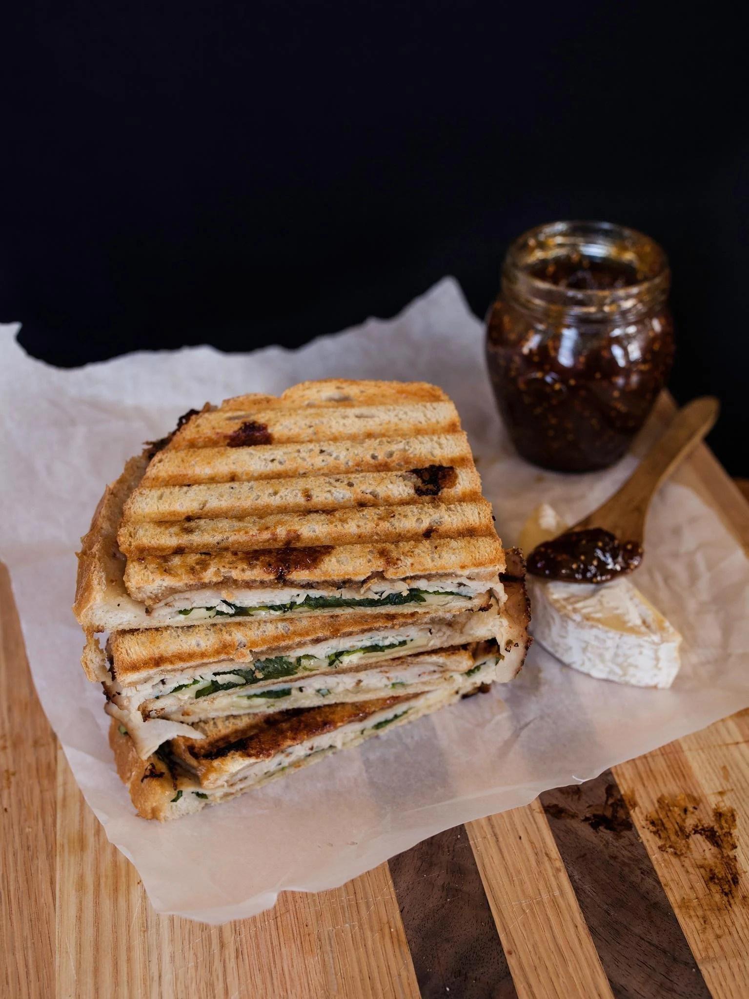 Turkey and Fig Panini | Zestful Kitchen