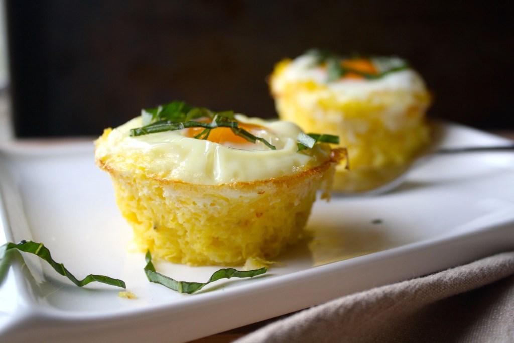 Spaghetti Squash Egg-in-a-Basket | Zestful Kitchen