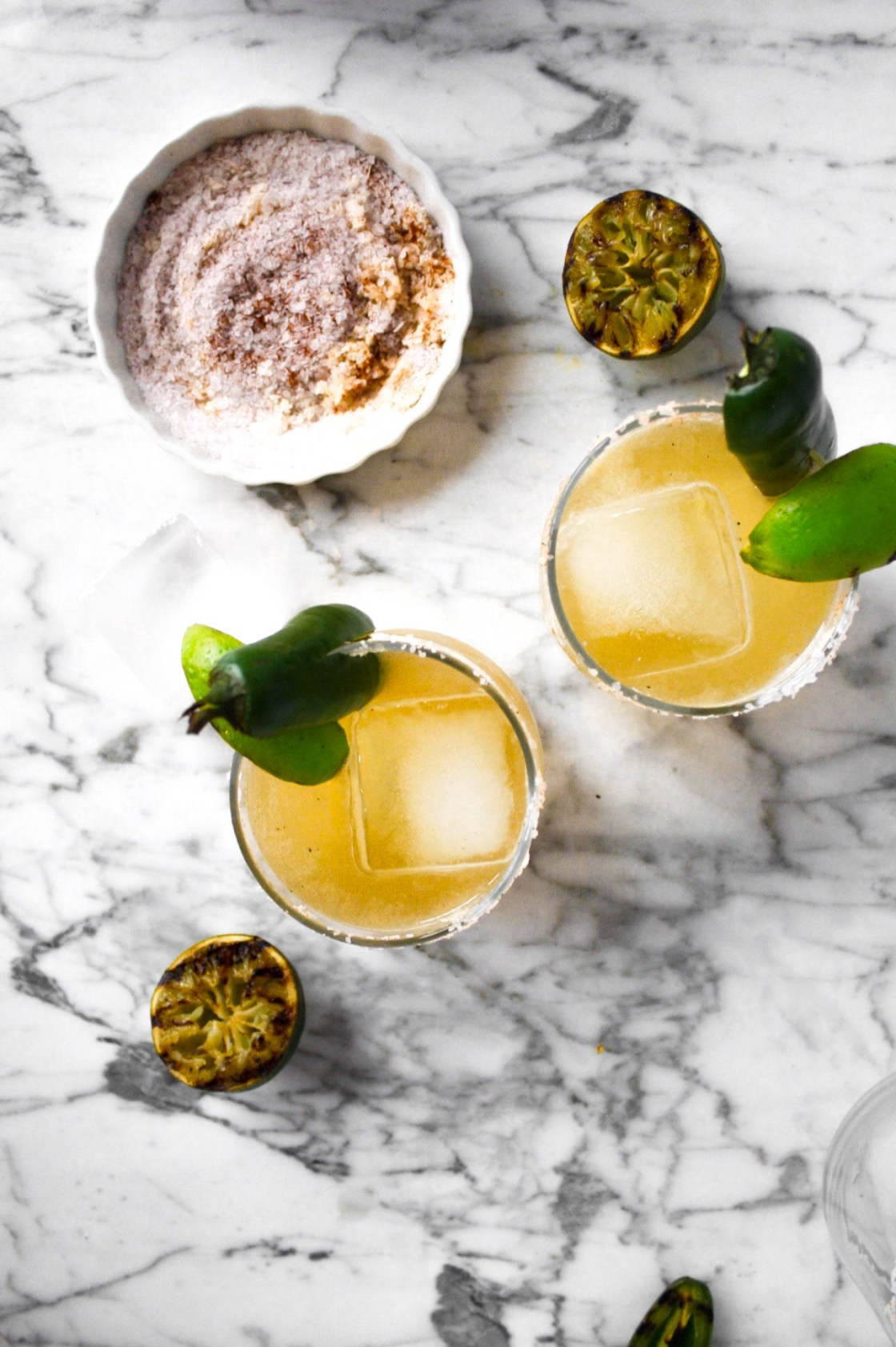 Charred Lime & Jalapeño Margaritas | Zestful Kitchen