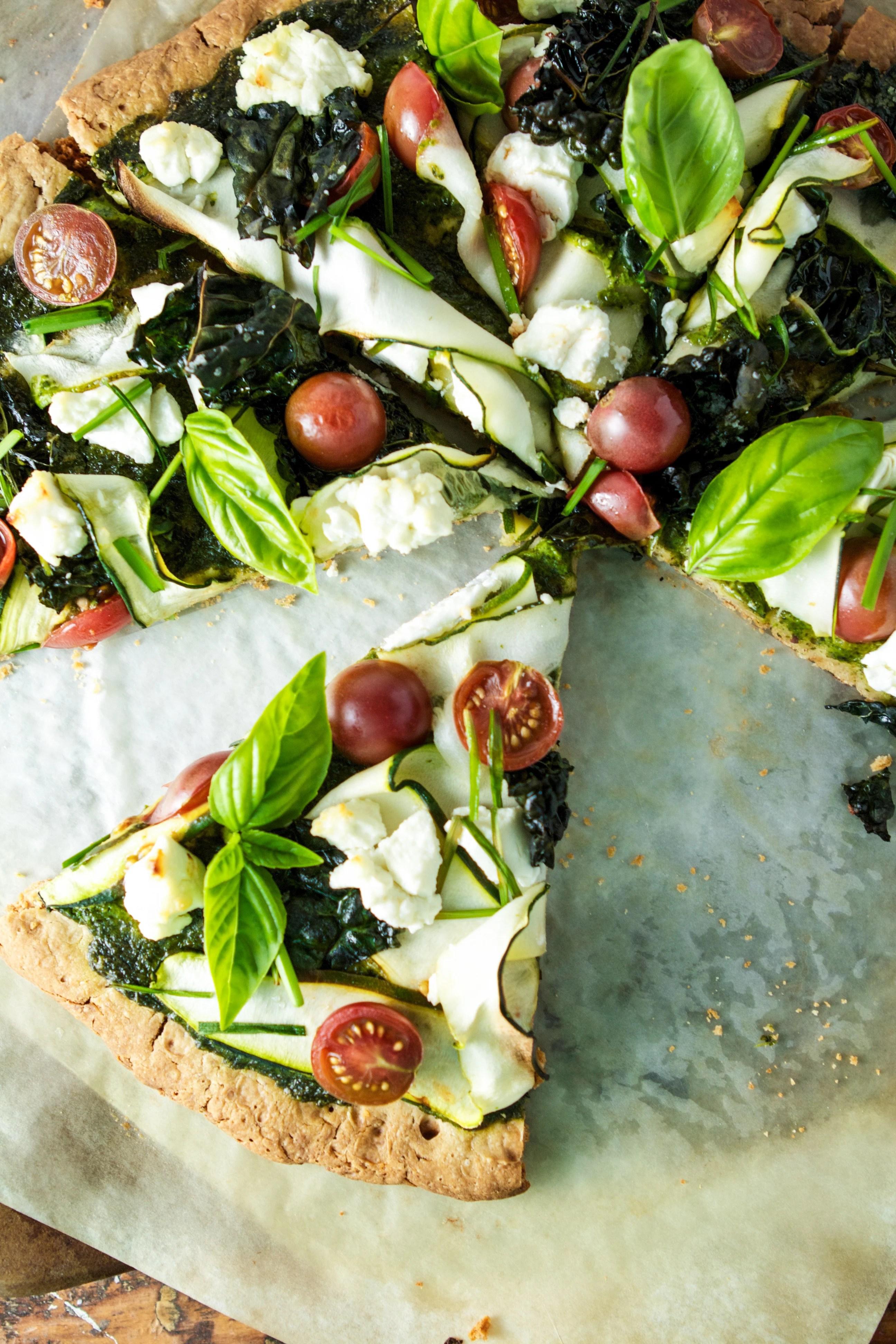 GlutenFree Green Goddess Pizza | Zestful Kitchen