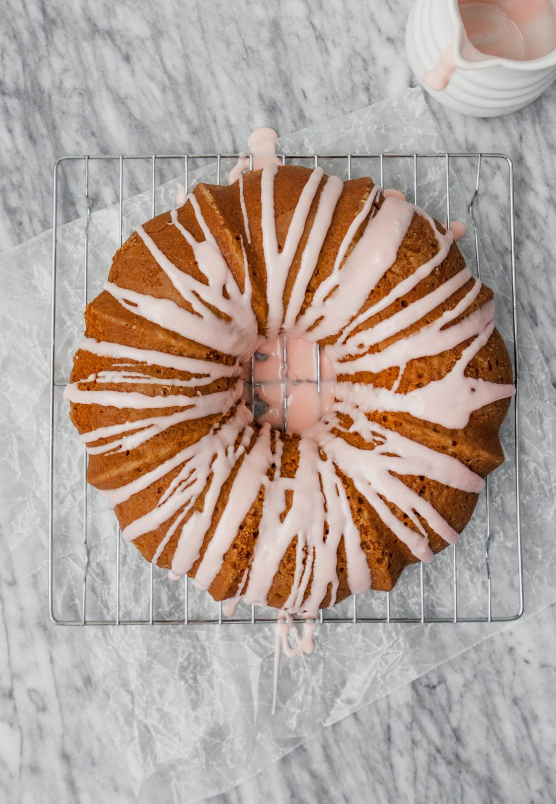 Tender bundt cake flavored with fresh grapefruit and Campari. This cake is naturally sweetened with honey, easy to whip, and elegant enough for a fancy party. | from Lauren Grant of Zestful Kitchen
