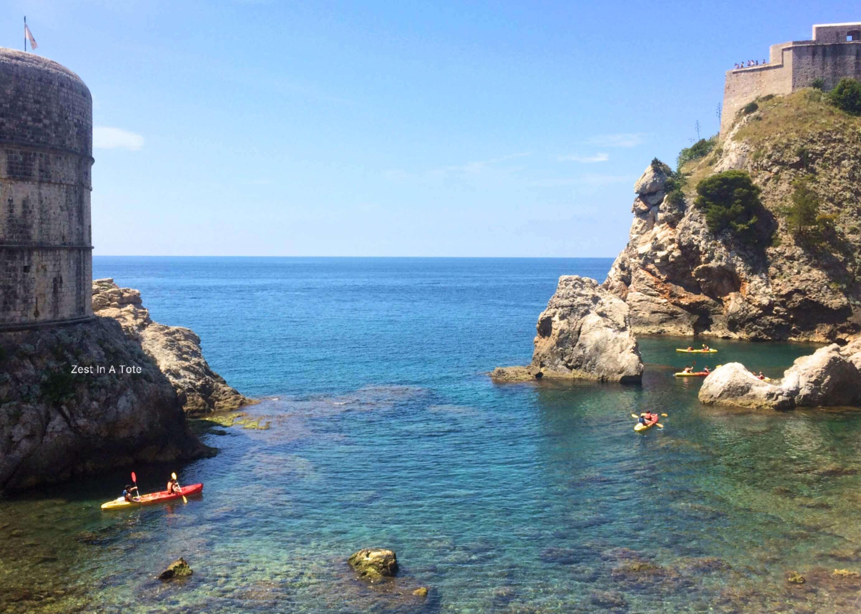 Kayaking in the Adriatic Sea, Dubrovnik