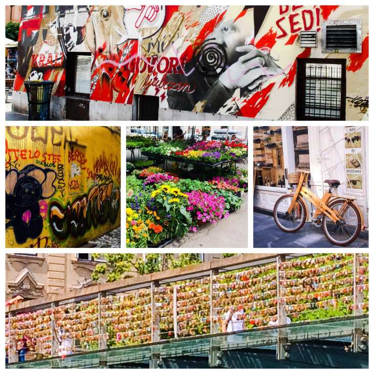 Ljubljana: Street art, colourful market and Butcher's bridge