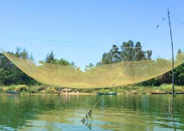 Nets resting on the river