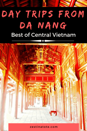 Here are 4 awesome reasons to visit Central Vietnam: day tripd from Danang Hoi An and Hue for food and culture, laze around at Danang beaches, take a cycling tour to see rural Vietnam. #thingstodoindanang #vietnam #hoian #hue #cyclingtour #beach #daytripsfromdanang