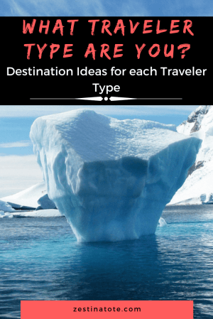 What Traveler type are you? Take this 'what type of travel person are you' quiz. Inspiration and fresh ideas for each Traveler type are given as well. #travelertype #whattypeoftravelpersonareyou #destinationideas