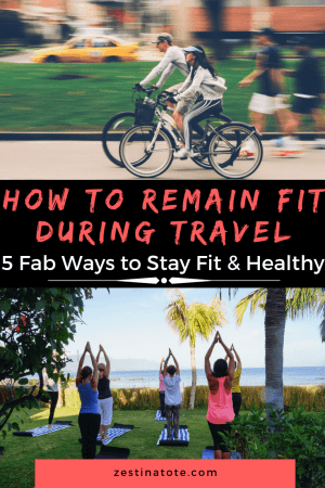 If you're committed to your fitness and general wellbeing, you can find ways to stay healthy during your travels. Setting out on the road with a few go-to exercise routines is a good start, but there is a lot more you can do to maintain your fitness throughout your trip. #fitness #stayfitwhiletravel #fitnesstips #stayhealthy