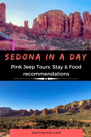 We spent a day in Sedona to soak in the beauty of the red rocks that the town is famous for, before driving further to Grand Canyon. Sedona Pink Jeep Tours was a fun family adventure that fit in perfectly in the one day we spent in Sedona. #arizona #sedona #sedonainoneday #sedonapinkjeeptours #familytravel #sedonatograndcanyon