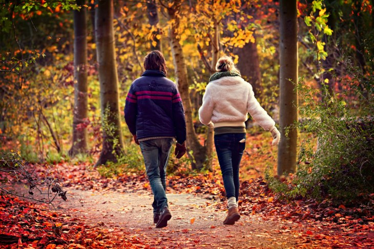 man-woman-walking