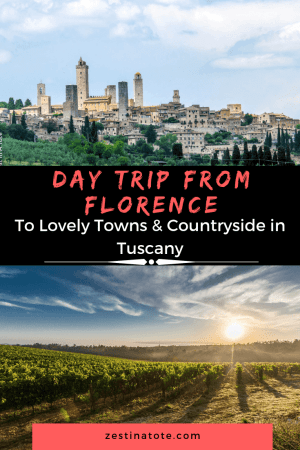 One of the most fabulous day trips to take from Florence has to be to the Tuscan region. Our itinerary included exploring the striking city of Siena, the medieval towns of Monteriggioni and San Gimignano and having an authentic wine tasting session at a vineyard. #italy #daytripfromflorence #tuscany #siena #monteriggioni #chianti #winetasting #sangimignano
