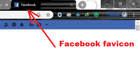 Facebook favicon browser tab