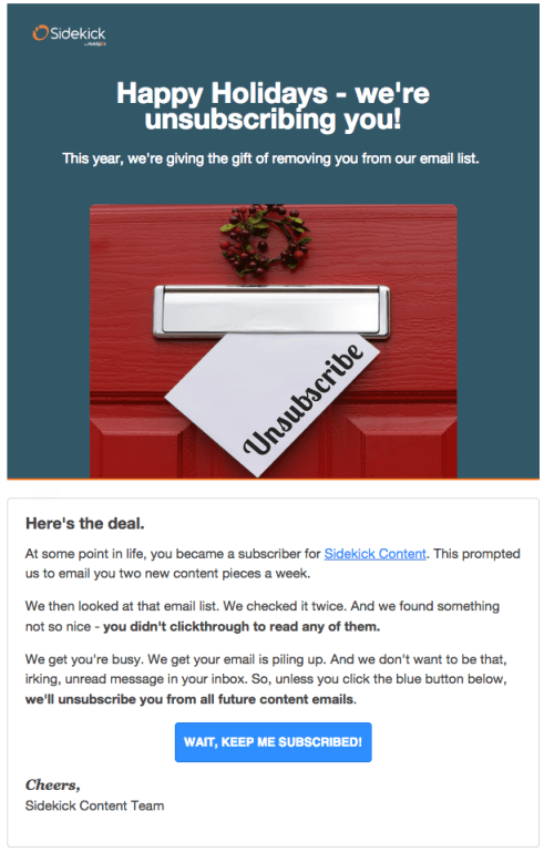 sidekick unsubscribe emails