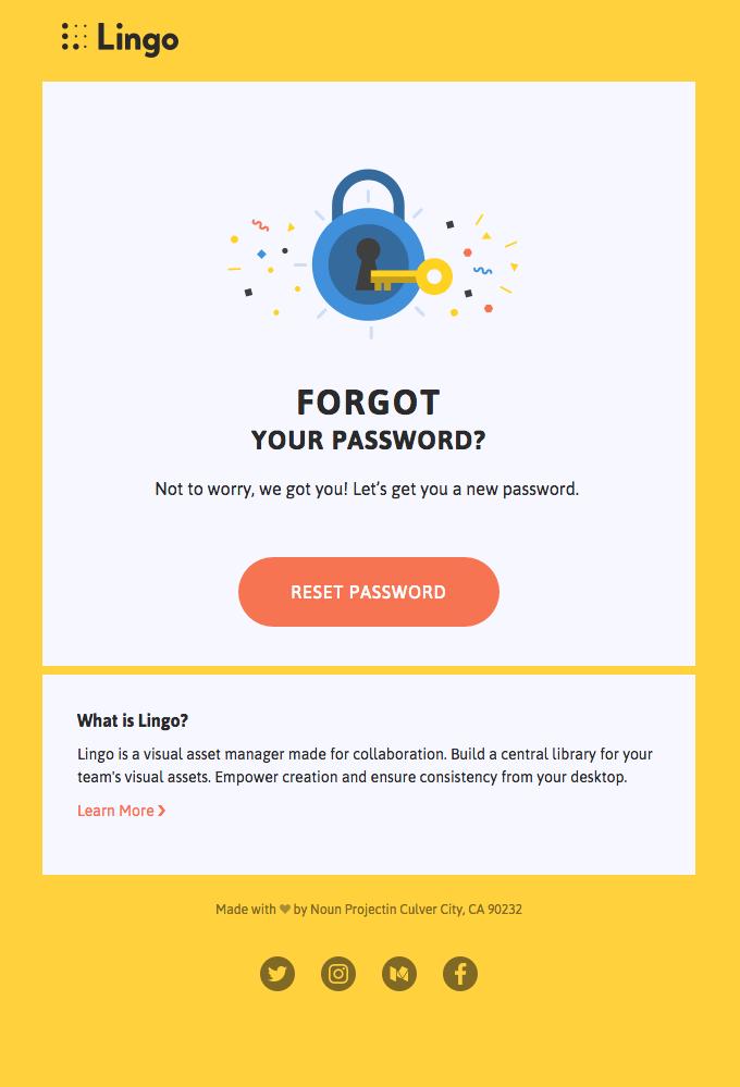 lingo app email