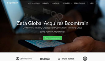 ZETA GLOBAL ACQUIRES BOOMTRAIN TO ACCELERATE ROLL-OUT OF ITS MACHINE LEARNING-DRIVEN MARKETING CLOUD