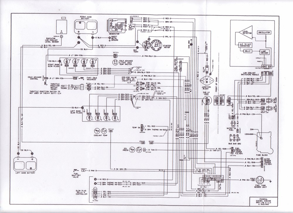 medium resolution of 1983 wiring diagram diesel place chevrolet and gmc diesel truck chevrolet wiring basic starting 1983 wiring