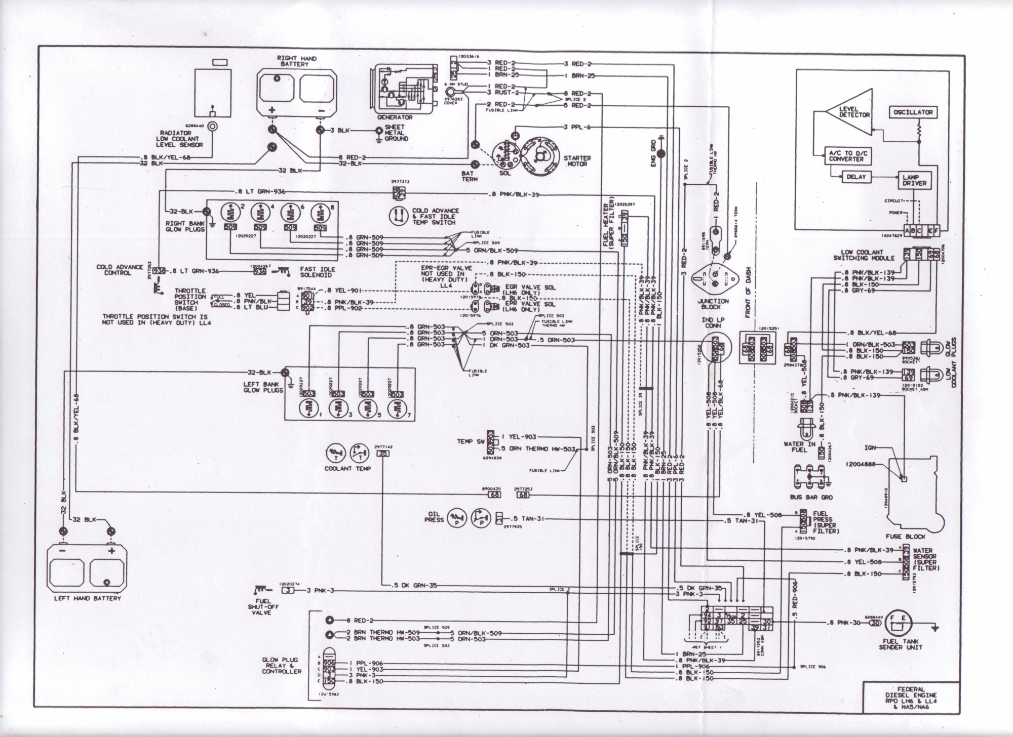 hight resolution of 1983 wiring diagram diesel place chevrolet and gmc diesel truck 2001 suburban radio wiring diagram 1983 suburban wiring diagram