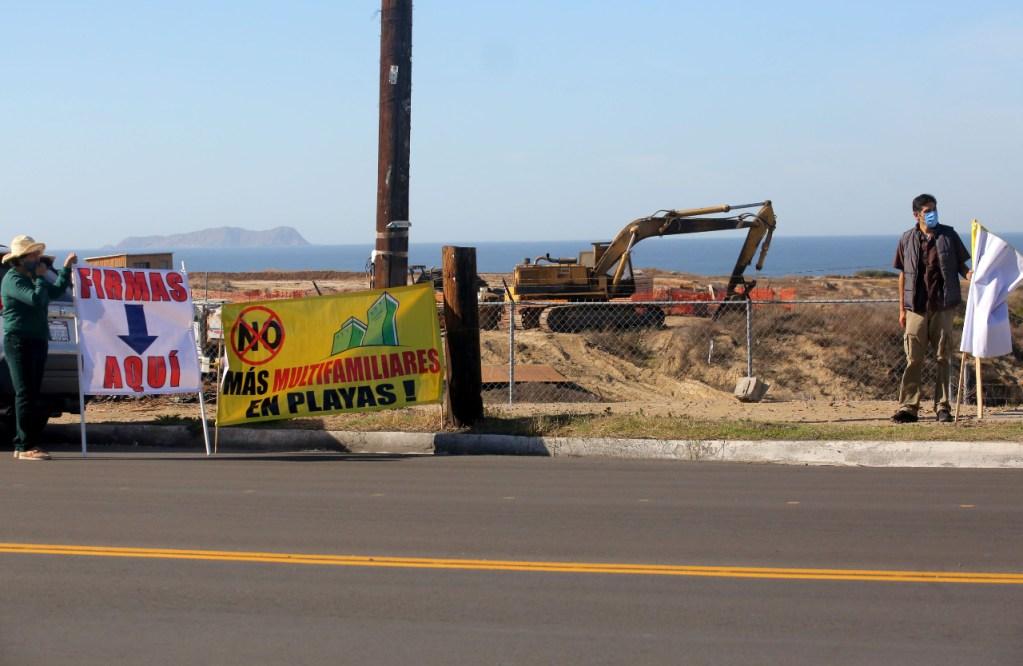 Residentes de Playas de Tijuana exigen manifiesto de impacto ambiental por obra