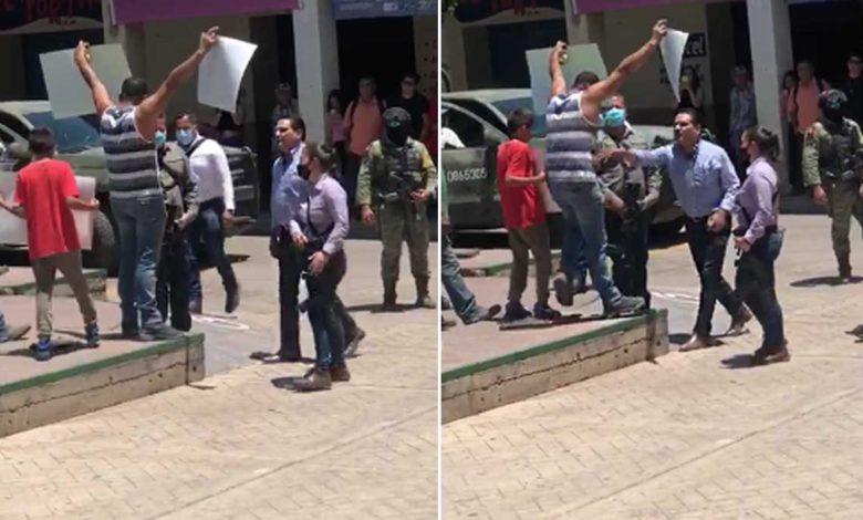 Gobernador de Michoacán agrede a maestro que pedía seguridad