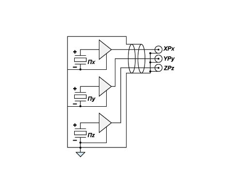 Accelerometer AP2038, specifications, connection schemes