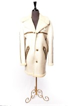 Vintage 1970's Men's Full Leather Shearling Coat Saks Fifth Avenue 38 Preowned