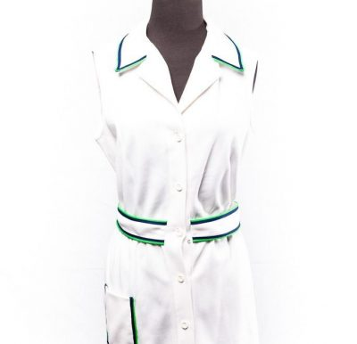 Vintage 1960's Tennis Dress Saks Fifth Ave Evonne Goolagong by Ginori Players