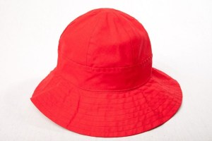 Vintage 1960's SAKS FIFTH AVENUE Red Hat Women's Made In Italy 100% Cotton NWOT