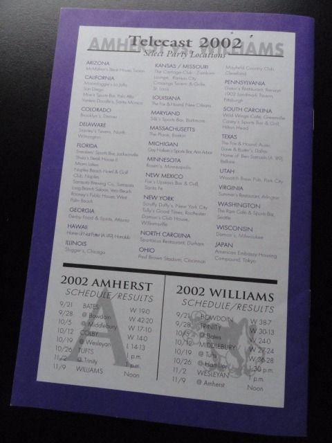 Amherst College vs. Williams November 9, 2002 Broadcast Illustrated For Alumni