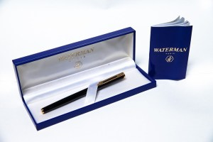 Waterman Fountain Pen I8K 750 Blue Gold Waterman Made In France On Cap Box Book