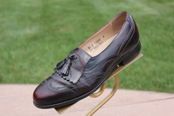 Men's ARISTOCRAFT Johnston & Murphy Cordovan Loafer With Tassel Size 8 Pre-Owned