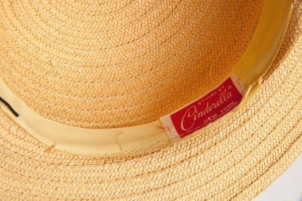 Vtg 60 s Women's Styled By Cinderella New York Straw Hat Yellow Bow Flowers