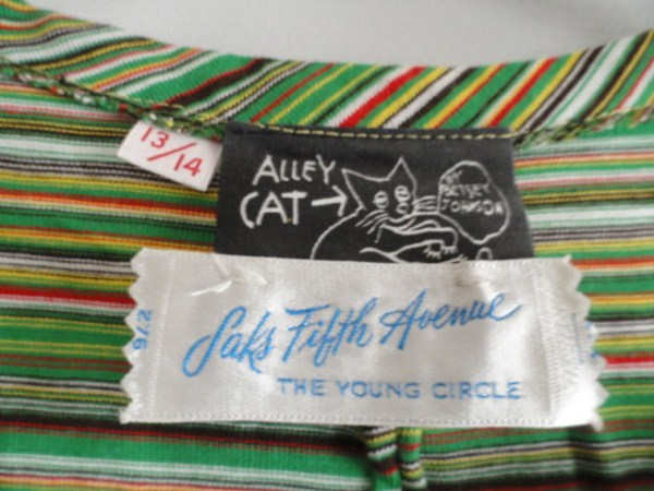 Vtg Betsey Johnson Alley Cat Maxi Dress Saks Fifth Avenue The Young Circle S 13