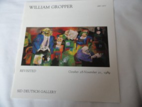 Art Book Catalog Brochure William Gropper Sid Deutsch Gallery 1989 15 Pages