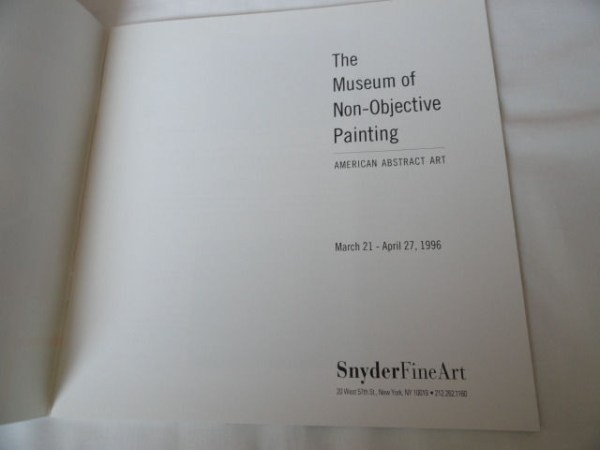 Art Book Catalog Brochure The Museum of Non-Objective Painting Edition Size 3000