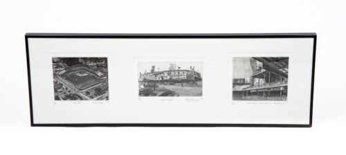 Det Tigers Baseball Navin Field Briggs Stadium Final Game Tiger Stadium Etching