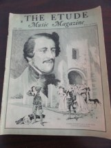 Vintage Etude Magazine Music Magazine July 1935 Gaetano Donizetti Very Good Cond