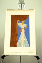 "Erte ""The Curtain"" Serigraph 161/300 Signed in Pencil With COA Circle Galleries"