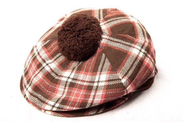 Vtg 60's Men's Hand Tailored FOXHUNTER Cap Hat Shannon Airport Br Pink Plaid