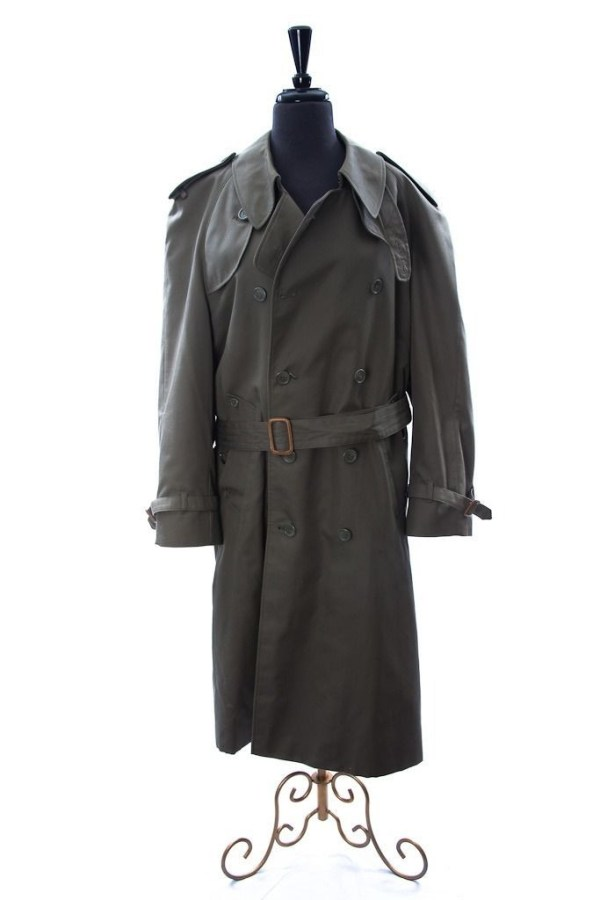 Men's ADOLFO Dbl Breasted Fully Lined Trench Coat Size 40 Pre-Owned Great Cond