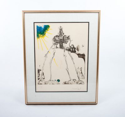 Dali Space Elephant Memories Of Surrealism Litho A 170/175 Bernard Ewell COA