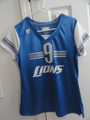 "NFL Detroit Lions Women's Stafford ""9"" Shirt NFL TEAM Apparrl Medium NWT"