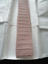 Vintage Men's Ron Chereskin Square Tie Pale Rose Gray All Wool Great Pattern