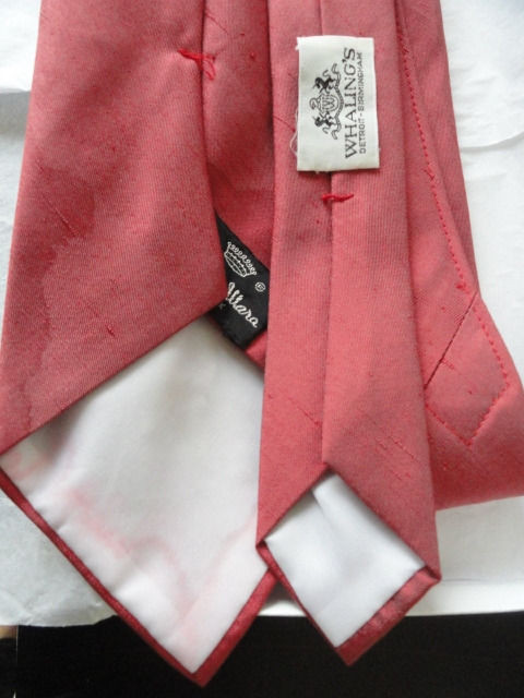Vintage Men's Countess Wara Pale Red Tie New York Whalings Detroit Birmingham