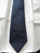 Vintage Men's Sears Tie Blue With Circle Pattern 100% Polyester NWOT