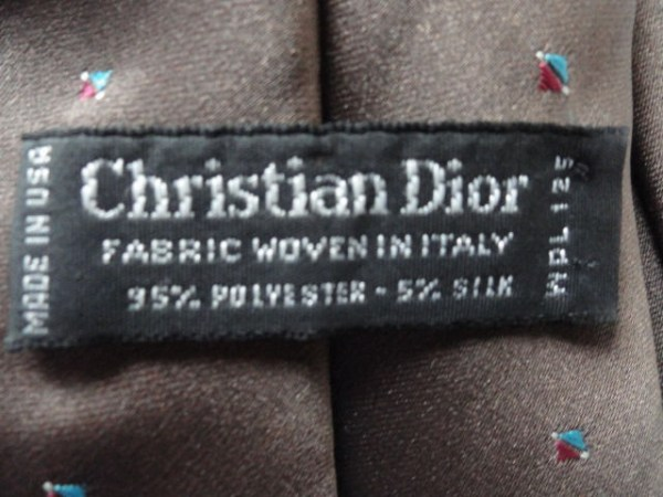 Vintage Men's Christian Dior Tie Made In USA Fabric Woven In Italy NWOT