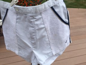 "Vintage Men's Jantzen J37 Tennis Squash Shorts Terry Cloth ""Towel"" S 38  White"