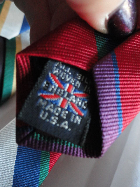 Vintage Men's Briar Cesarani Tie All Silk Woven In England Made In USA NWOT