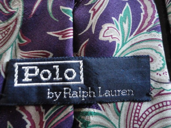 Polo by Ralph Lauren 100% Silk Made By Hand in USA From Imported Fabric